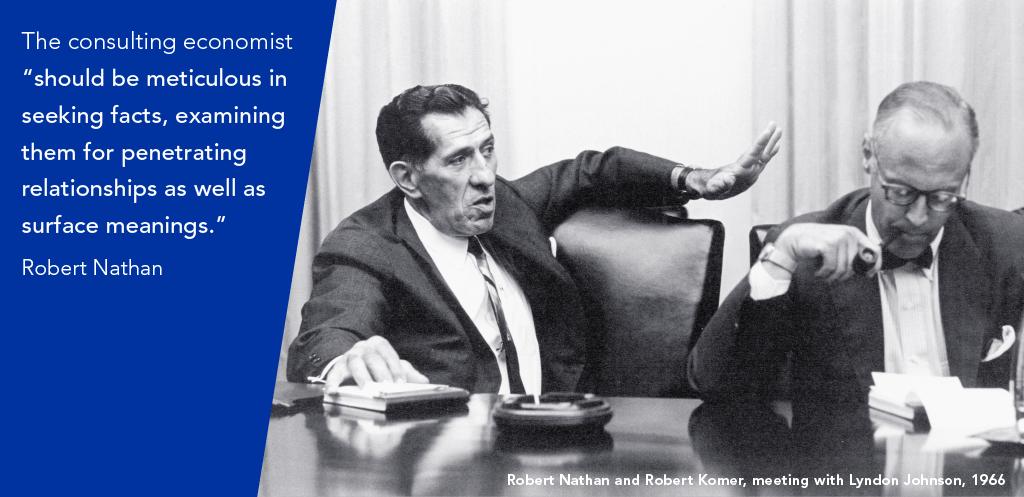 Robert Nathan and Robert Komer, meeting with Lyndon Johnson, 1966