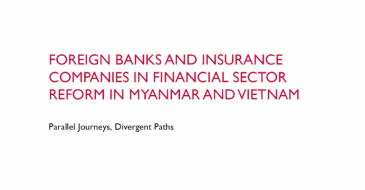 Foreign Banks and Insurance Companies in Financial Sector Reform in Myanmar and Vietnam: Parallel Journeys, Divergent Paths