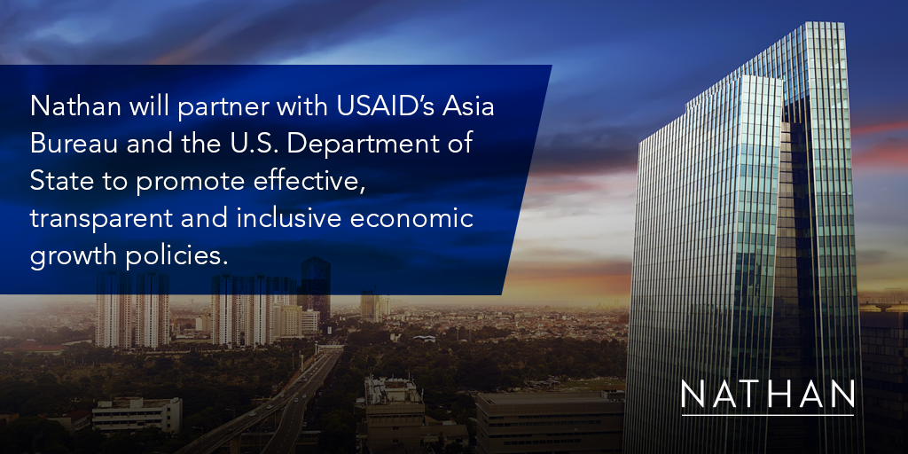 Nathan to implement USAID's flagship Indo-Pacific Economic Growth program