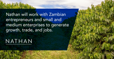 Nathan Starts New Project with Zambia's Ministry of Commerce, to Support Zambia's Promising Agribusiness Sector