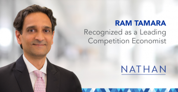 Nathan's Ram Tamara Recognized as a Leading Competition Economist in Who's Who Legal 2019