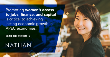 Promoting women's access to jobs, finance, and capital is critical to achieving lasting economic growth in APEC economies. Read the report.
