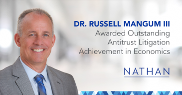 Dr. Russell Mangum III Awarded Outstanding Antitrust Litigation Achievement in Economics